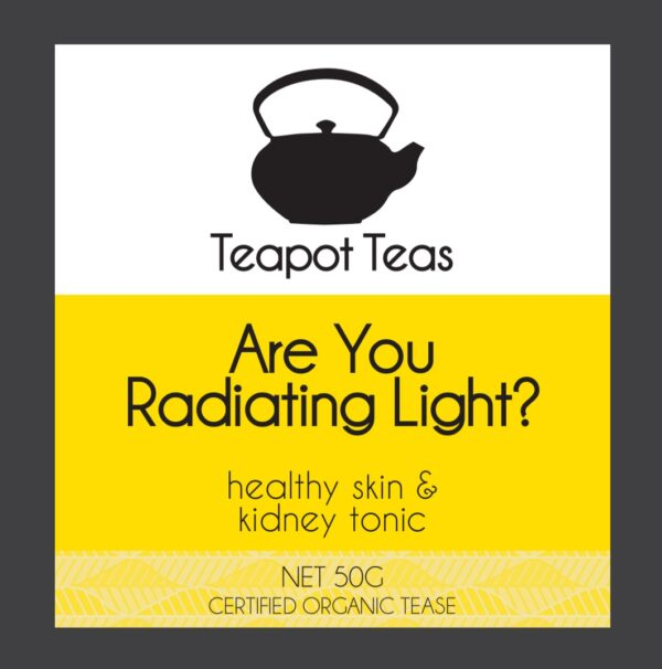 are you radiating light_healthy skin and kidney tonic_teapot teas_label