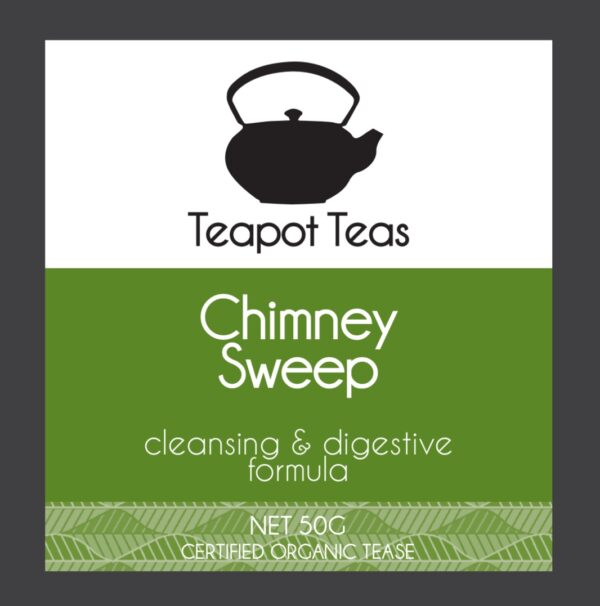 chimney sweep_cleansing and digestive formula_teapot teas_label