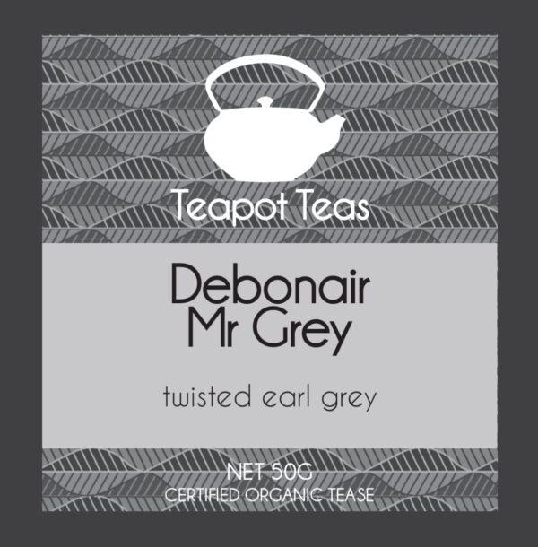 debonair mr grey_twisted earl grey_teapot teas_label