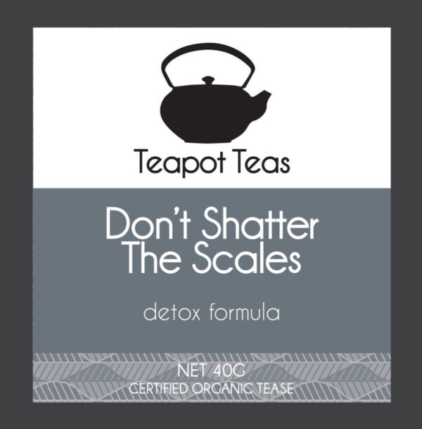 don't shatter the scales_detox formula_teapot teas_label